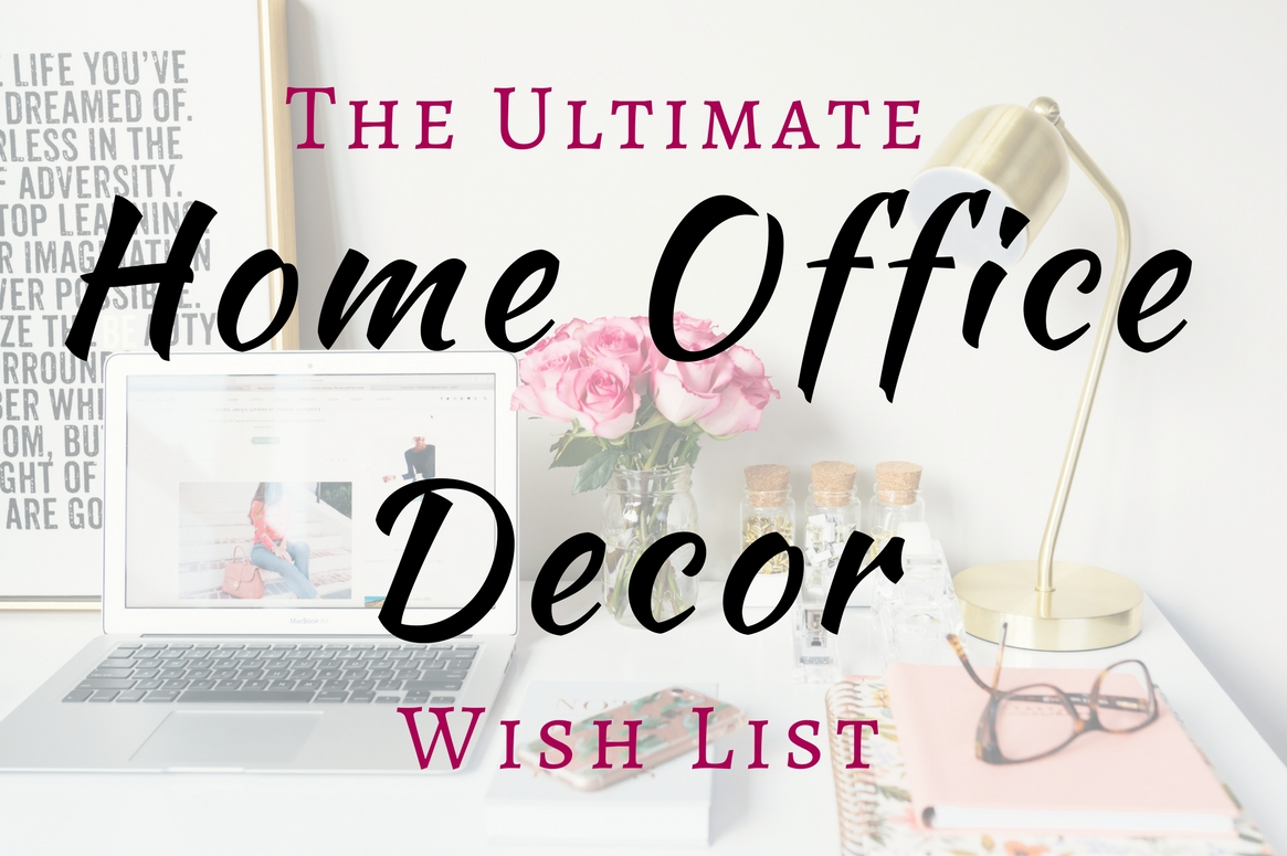 Dreaming of an Instagram-worthy home office? Check out this home office decor wish list for inspiration!