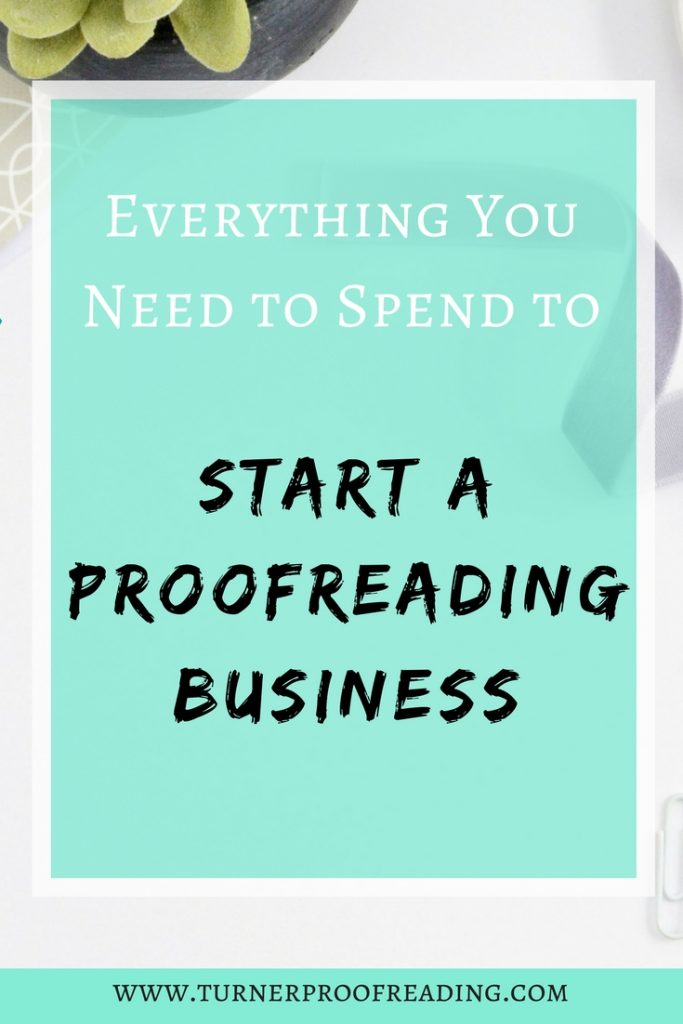 Working from home is amazing, but it still costs money to set up a home-based business. If you love grammar, you might be wondering how much does it cost to start a proofreading business. It's surprisingly affordable! Read on to learn exactly how much I spent to start and run my proofreading business in its first year.