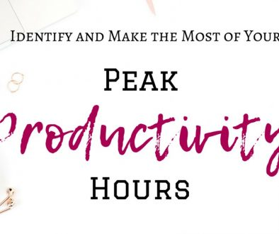 Want to be productive all the time? Unfortunately, it's just not possible. We only have a small window of productivity every day. These are your peak productivity hours where you're the most alert and have the most energy. Find out what your productivity hours are and how to make the most of them! #productivity