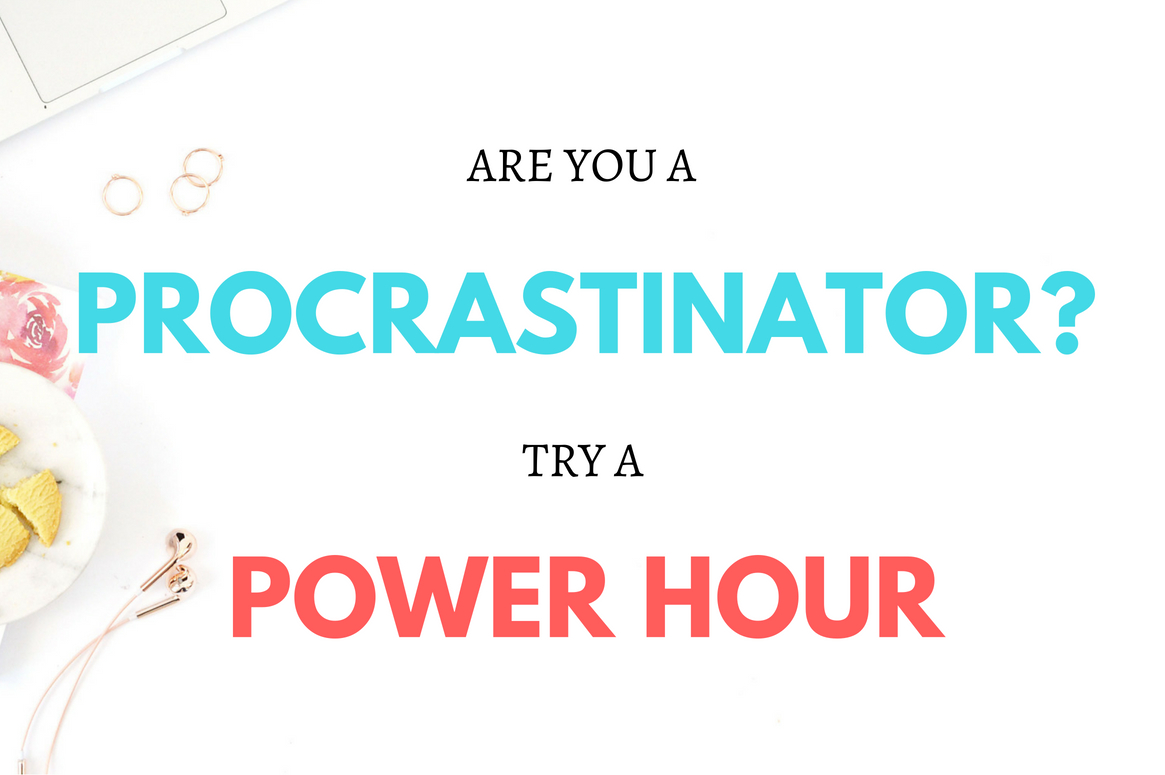 Are you the world's biggest procrastinator? A power hour will change your life! Get TONS of things done in a short space of time. #productivity #powerhour #timemanagement