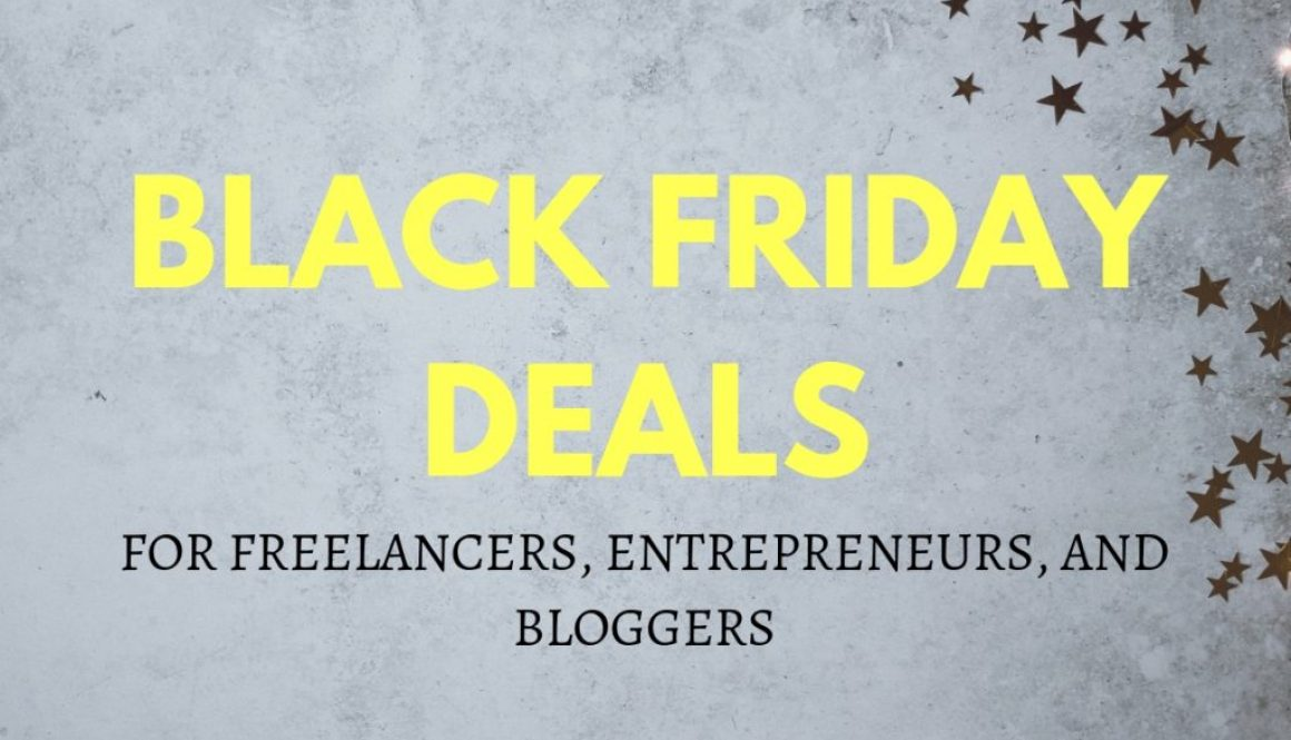 Black Friday Deals for Freelancers, Entrepreneurs, and Bloggers