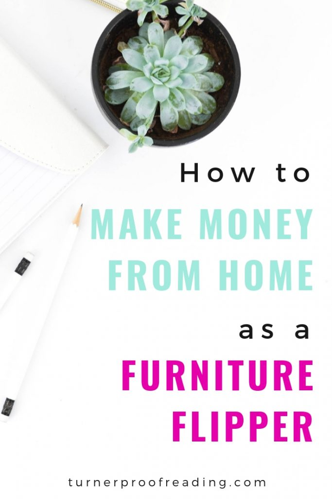 Looking for a creative way to earn money from home? Here's how Virginia makes money from home flipping furniture! Breathe new life into old furniture and make money! #sidehustle #furnitureflipper #workfromhome