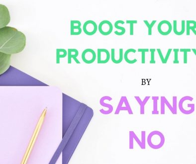 How to say no and increase your productivity